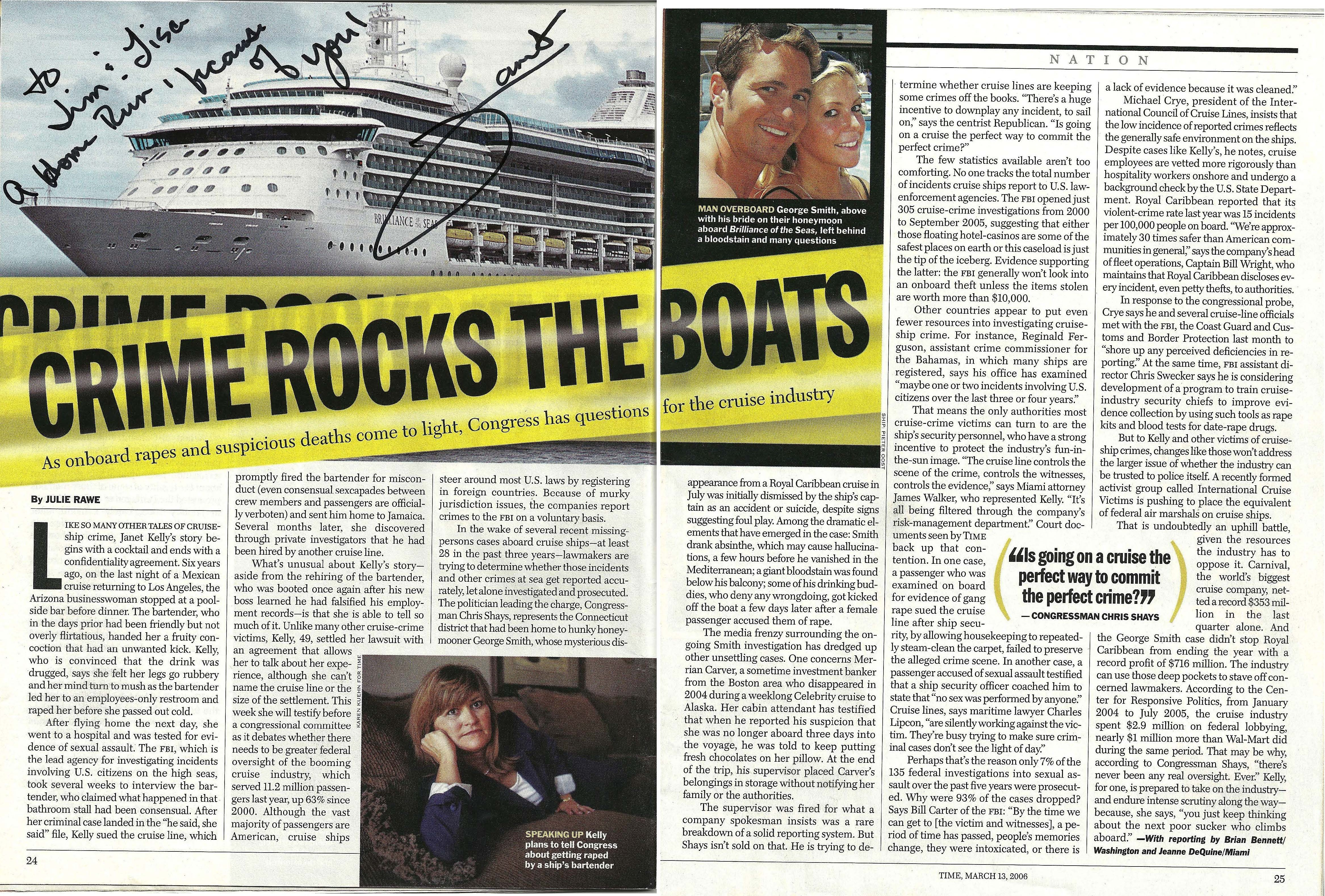 Cime Rocks The Boats - Cruise Ship Crime