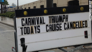 Carnival Cruise Ship Triumph - Cruise Fire
