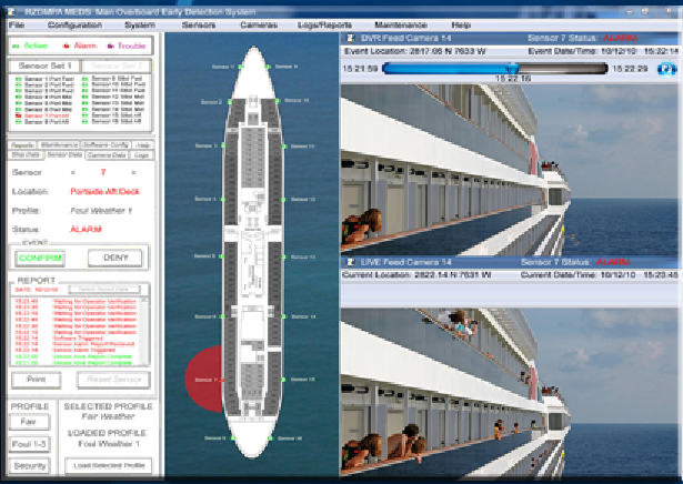Cruise ship Overboard Detection System