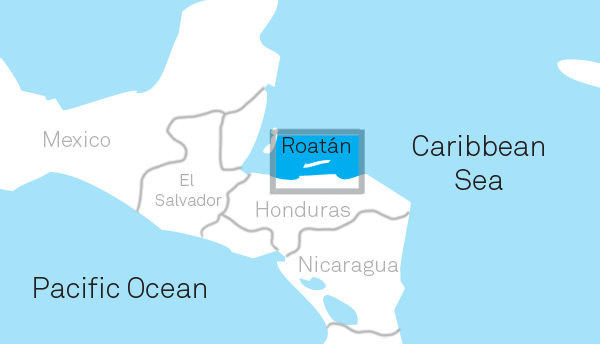 Roatan Honduras Map