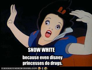 Disney Cruise Ship - Drugs - Snow White Snorting Coke?