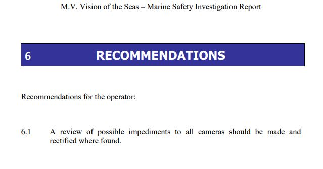 Vision of the Seas SQM Safety and Quality Manual Royal Caribbean